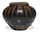 Important Jin dynasty Cizhou russet splashed water melon jar