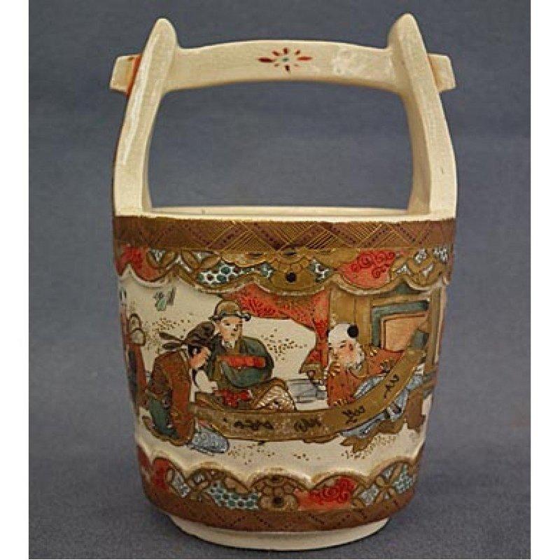 Antique Miniature Japanese Satsuma Ceramic Vase