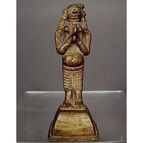 Antique Indian Hindu Bronze Deity Sculpture 18th c