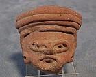 Antique Precolumbian Mayan Circa 500AD to 900 A.D. head