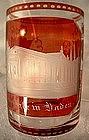 Antique Bohemian Glass Beaker, 19th century