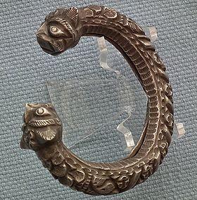 Antique 10th - 15th century A.D. Islamic Silver bracelet Bracelet