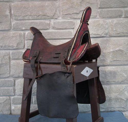Antique Russian Cossacks Saddle In Islamic Caucasian Circassian Kabar
