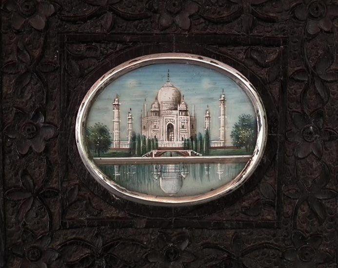 Antique Indian Miniature Painting Taj Mahal 19th C Islamic India