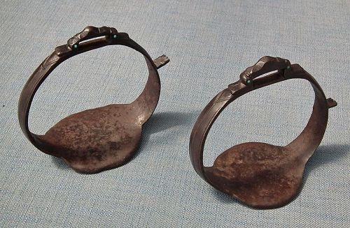 Antique 17th Century Islamic Persian Safavid Saddle Stirrups