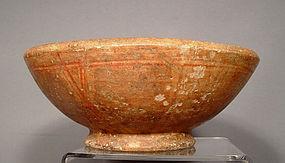 Ancient Ceramic Pre Columbian Mayan Polychrome Bowl