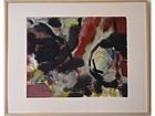 Harold Davies California artist Abstract Modernist oil painting