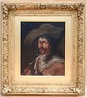 Henry Raschen oil portrait Cavalier Gent 1901