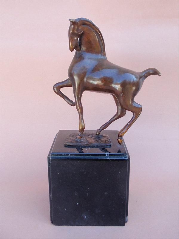 Mexican Modernist H. Juarez bronze horse sculpture
