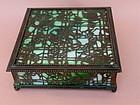 Louis Tiffany Studios N.Y. Bronze Art Glass box