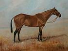 Portrait of Portlaw Race horse G. Crosley Oil