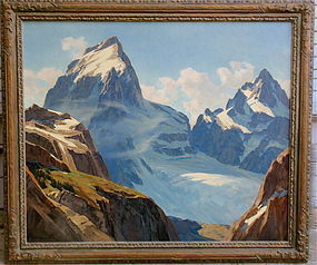 Leland Curtis Teton Glacier Wyoming Oil Painting
