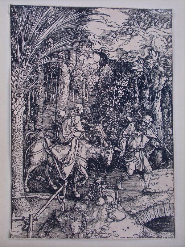 Albrecht Dürer  The Flight into Egypt woodcut c.1504