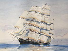 English Ship Portrait Cutty Sark by John Whitlock