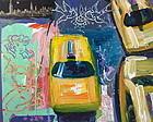 "New York Modernst Acrylic ""Vertigo"" By Tom Christopher"