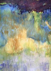Ernest Garthwaite Abstract landscape Marsh series #1