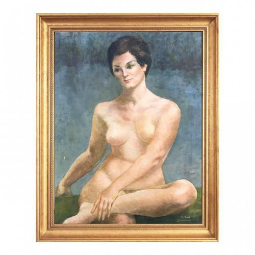 Oil Painting Seated Female Nude by Alexander Brook