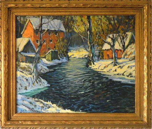 American Impressionist Oil Painting by Edward Redfield