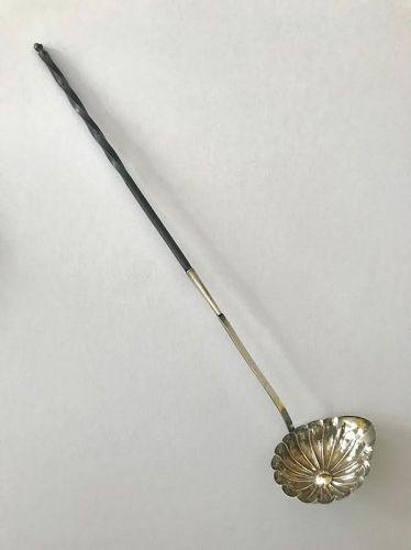 Antique French Silver Toddy Ladle 18th Century Hallmark 950 Pure