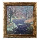 Oil Painting Wooded Stream by Harry Leslie Hoffman Old Lyme School Art