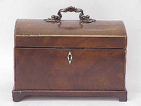 Fine Antique Gerogian Mahogany domed secretary box