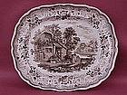 Staffordshire Transferware Platter Georgian c1830