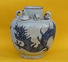 Ming Dynasty Chinese porcelain wine jar Dragon motif