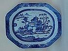 Chinese Canton export porcelain platter circa 1840