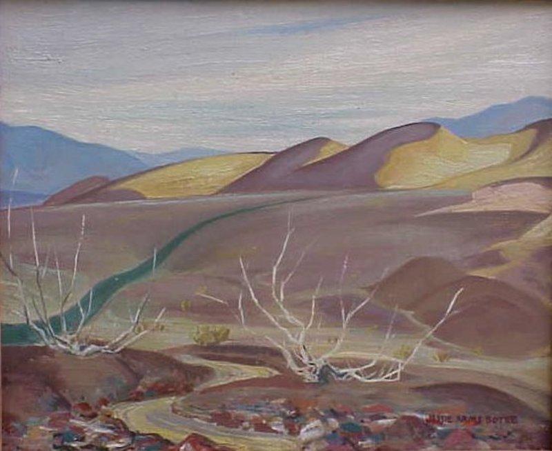 Jessie Arms Botke Death Valley  California plein air