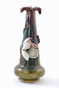 Japanese Sumida Gawa Flower Vase Sg