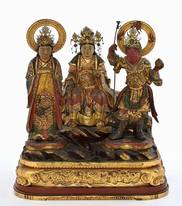 Meiji Japanese Travel Lacquer Shrine Zushi Kannon Buddha