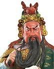 Chinese Famille Rose Guan Yu Warrior Figurine Figure