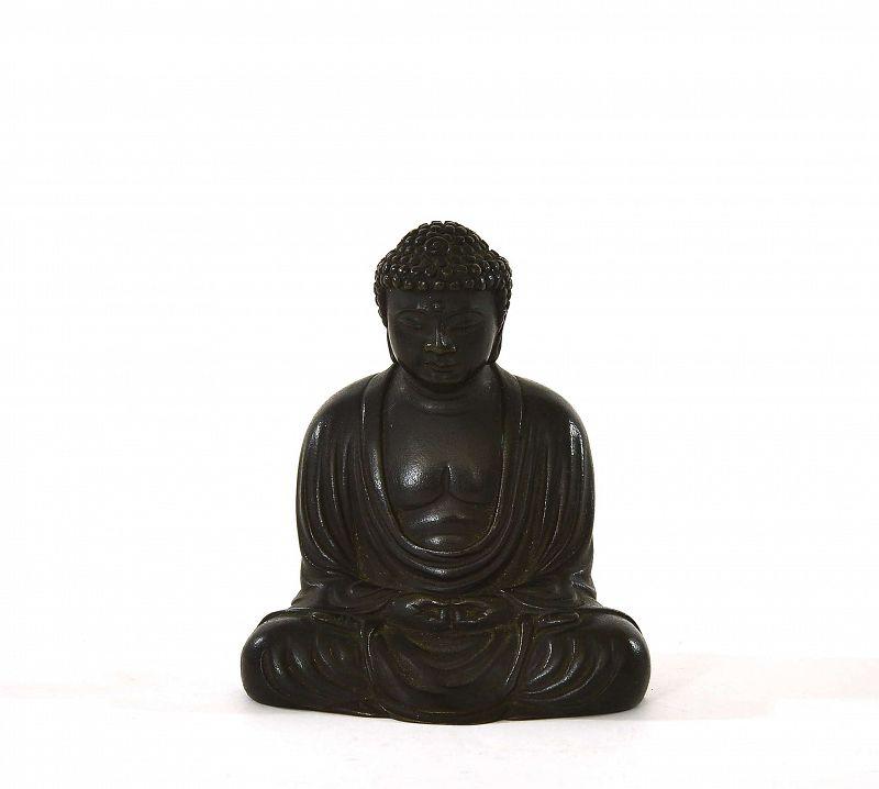 1930's Japanese Bronze Seated Amita Buddha