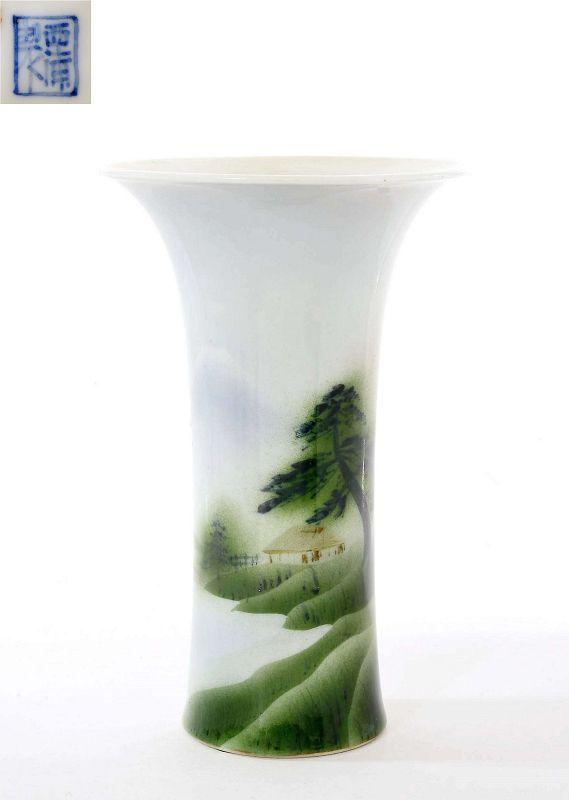 Old Japanese Nishiura Studio Porcelain Vase Sg