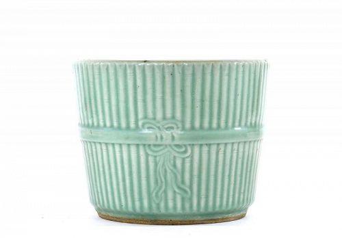 Old Chinese Incised Celadon Glaze Porcelain Planter