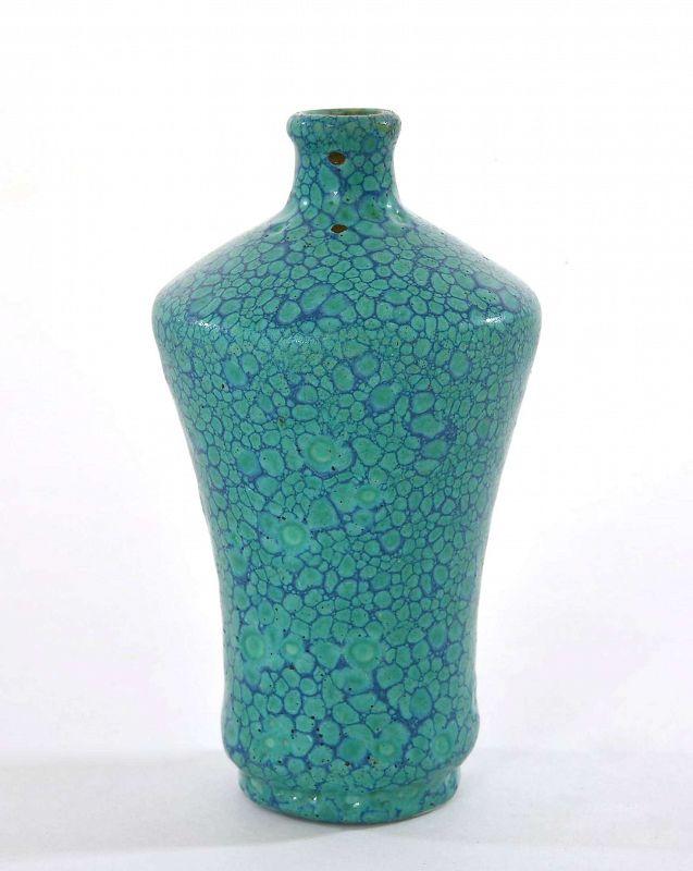 Old Chinese  Robin's Egg Glaze Porcelain Snuff Bottle