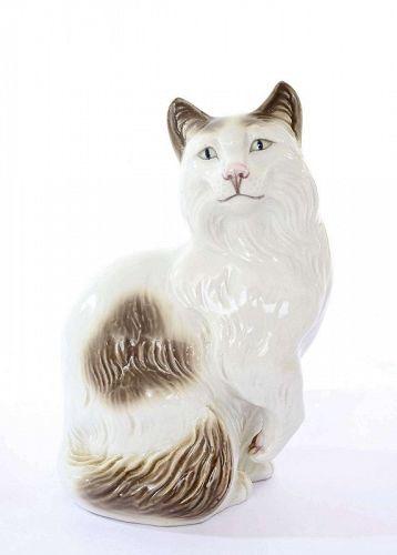 Old Japanese Studio Standing Cat Neko