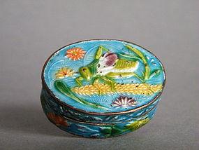 Late 19th Century Chinese Enamel Box Guangxu 1875-1908
