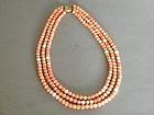 Antique Coral Pearl & 14K Gold Necklace circa 1890-1910