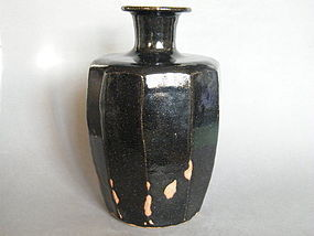 Large Black Glazed Leach Studio Pottery Vase by Trevor Corser *SOLD*