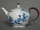 Rare Early 18C Chinese Export Porcelain Teapot Yongzheng 1723-1735