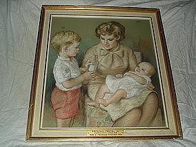 Signed Dorothy Colles (1907-2003) Pastel Portrait -1965