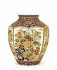 Meiji Japanese Gosu Imperial Satsuma Vase by Hododa