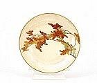 Japanese Satsuma Maple Leaf Plate Yabu Meizan