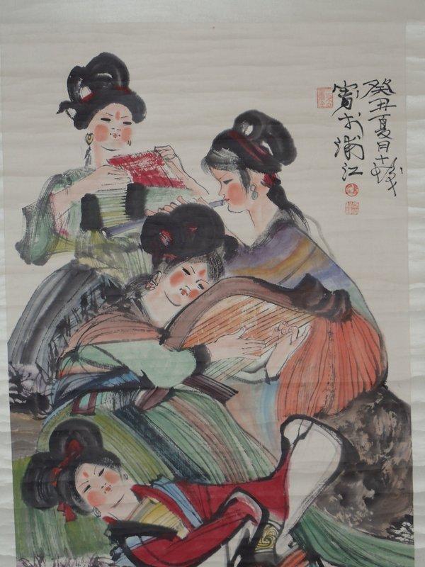 Girl Musicians by Cheng Shifa