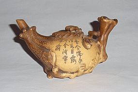 A Rare Zisha Teapot with Seal Mark of Gongchun