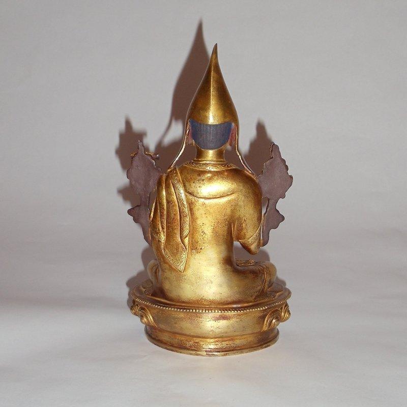 An Exquisite Sino-Tibetan Gilt Bronze Buddhist Statue