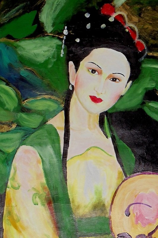 A Beauty amid Blooming Lotuses / Lin Fengmian (1900-1991)