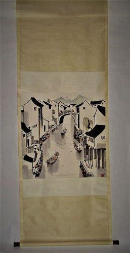 Wu Guanzhong (1919-2010) / Water-Front Hometown in Southeastern China