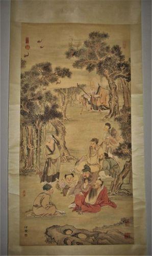 Liu Guandao (1258-1336) Yuan Dynasty / Eight Taoist Immortals